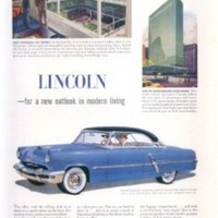 Lincoln for a new outlook in modern living ad 1952