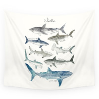 Society6 Sharks Wall Tapestry