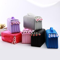72 Holders 4 Layers/52 Holders 3 Layers Portable Canvas School Pencil Cases High-capacity Pencil Bags School Supplies 04856