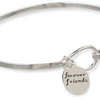 "Sterling Silver ""Sisters Are Forever Friends"" Catch Bangle Bracelet:Amazon:Jewelry"