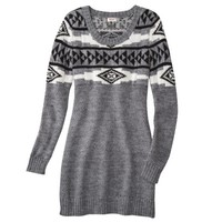 Mossimo Supply Co. Juniors Long Sleeve Patterned Sweater Dress - Assorted Colors