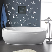 50 Large Soap Bubbles Bathroom  vinyl decal wall art decor removable