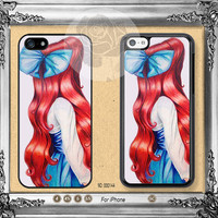 Disney iPhone 5s case, iPhone 5C Case iPhone 5 case, iPhone 4 Case little mermaid ariel iPhone case Phone case ifg-000144