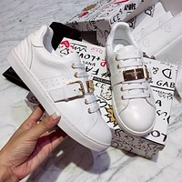 DOLCE & GABBANA Fashionable and recreational small white shoe-4