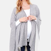 Women's Ingrid & Isabel 'Cozy' Maternity & Nursing Wrap - Grey