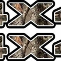 4x4 Camoflauge Decal for Atv, Truck, or Jeep in Camo