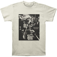 Band Men's  Basement Tapes Vintage White Slim Fit T-shirt Vintage