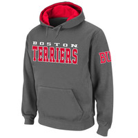 Boston University Knockout Pullover Hoodie - Charcoal