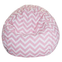 Baby Pink Chevron Small Classic Bean Bag