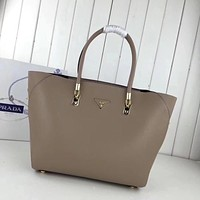 prada women leather shoulder bags satchel tote bag handbag shopping leather tote crossbody 355