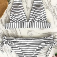 Cupshe Out Of The Ordinary Stripe Bikini Set
