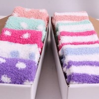 New Colorful Winter Socks for Woman & Thicken Warm Socks 5 Pairs