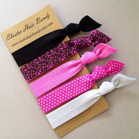 The Lydia Hair Tie Ponytail Holder Collection by Elastic Hair Bandz on Etsy