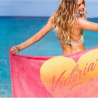 2014 New Victoria good absorption comfort Cotton Bath towel VS sexy exclusively women beach towel red heart 155 * 78cm-in Towels from Home & Garden on Aliexpress.com