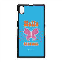 Sassy - Hello Gorgeous 10433 Hard Plastic Case for Sony Xperia Z1 by Sassy Slang