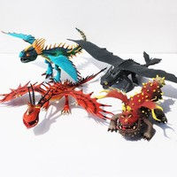 Anime Cartoon How to Train Your Dragon 2 Dragon Toothless Night Fury Action Figure PVC Doll 4 Different Styles  25-37cm