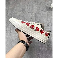 Converse Play Popular Loving Heart Personality Low Top Flat Spor Sneakers Shoes