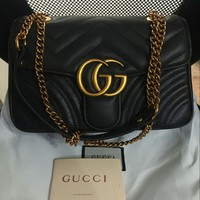 Gucci-Handbag-Marmont-Matelasse-Women-Quilted-Leather-Crossbody-Bag