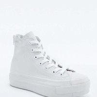 Converse Chuck Taylor Black Leather Platform High-Top Trainers - Urban Outfitters