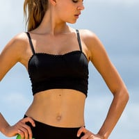 Cropped Lace Sport Top