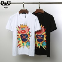 Dolce&Gabbana D&G Fashion Black White T-Shirt Top Tee