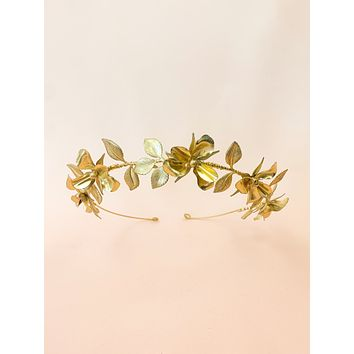 Daffodil Fields | handmade brass flower crown