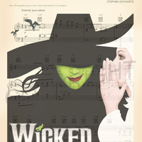 Wicked For Good Sheet Music Art Print