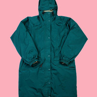 Vintage L.L.Bean GORETEX Parka in Green WOMENS Size Small