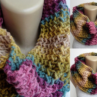 colorful cowl , infinity scarf ,eternity ,cowl neck ,winter trends ,unisex scarves
