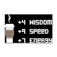 8 Bit Coffee Video Game Decal