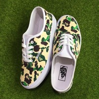 Vans x Bape APE MAN Camo Running Shoes 36-44