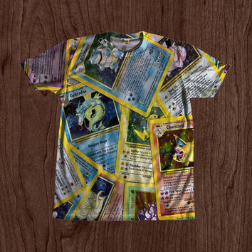 Pokemon Cards Shirt unisex Youth & Adult size tshirts USA Handmade *Fast Shipping*