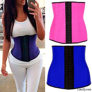 Underbust Waist Trainer Cincher Corset Girdle Workout Belly Belt Shaper Top