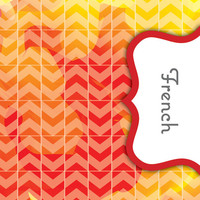 Back to School! Swirly Paint Binder Dividers - French Class