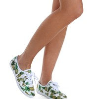 Sale- White Pineapple Trend Sneakers