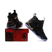Nike LeBron Soldier 11 Black-Red Basketball-1