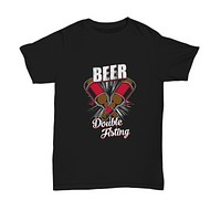 Double Fisting Two Beer Bottles Drinking At Once T-Shirt
