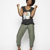 Dolly '72 Linen Muscle Tee - Vintage Black