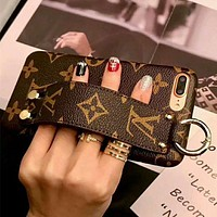 "Hot Sale ""Louis Vuitton"" LV Popular Personality Cute iPhone Phone Cover Case For iphone X 6s 6plus 6s-plus 7 8plus I-AGG-CZDL"