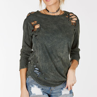 Can't Be Tamed Distressed Top
