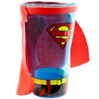 Superman - Shield Pint Glass with Cape = 1946094660
