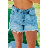Beale Street Shorts: Denim