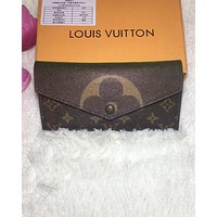 LV Fashion Female Printed Handbags, Coloured Long Wallets