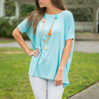 Show Your Soft Side Piko Top, Limpet Shell