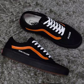 Vans x Control Is An Illusion Classic Canvas Old Skool Flats Sneakers Sport Shoes