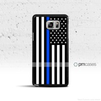 Thin Blue Line Black & White Flag Case Cover for Samsung Galaxy S & Note Series