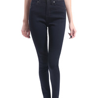 Womens Premium High Waisted Skinny Jean Pants with Stretch