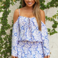 Printed With Passion Dress: Purple/White - Dresses - Hope's Boutique