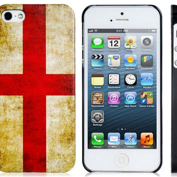 England Flag Plastic Case for iPhone 5S/S