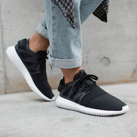 ADIDAS Fashion Sneakers Sport Shoes Tubular Viral Sneakers Black
